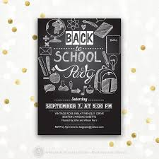 Back To School Invitation Template Back To School Invitation Back To School Party Printable Invite