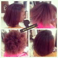 before meets after silk press on natural hair kls naturals