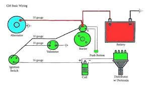 wiring diagram for gm one wire alternator the wiring diagram chevy alternator wiring diagram the h a m b wiring diagram