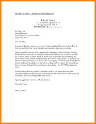 7 Legal Secretary Cover Letter Job Apply Form