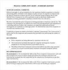 Audit Summary Report Template Index Of 9 Executive Summary