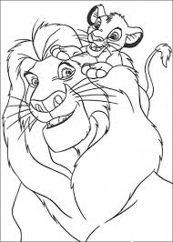Simba And Mufasa Coloring Page Free Printable Coloring Pages