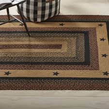 blackberry star appliqued jute area rugs