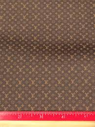 lv brown small print faux leather printed vinyl sheet