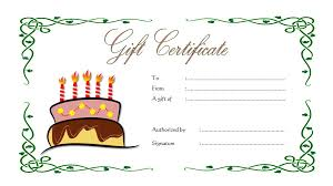 microsoft word birthday coupon template birthday gift certificate the best template collection