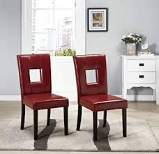 red leather dining chairs best of amazon kings brand solid wood keyhole back red dining room