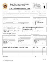 Registration Form Templates For Word Student Registration Form 5 Free Templates In Pdf Word Excel