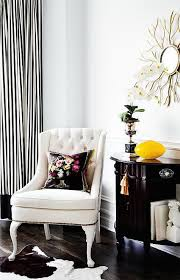 Black white striped curtains