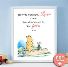 Winnie The Pooh Love Quotes Interesting How Do You Spell Love Printable Quote Winnie The Pooh Milne PDF