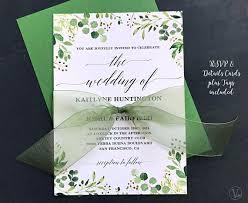 Wedding Invitation Downloads Rustic Greenery Wedding Invitation Printable Greenery