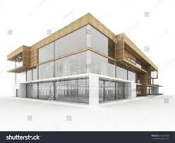 modern office architecture. Design Of Modern Office Building. Architects And Designers Computer Generated Visualization. Architecture