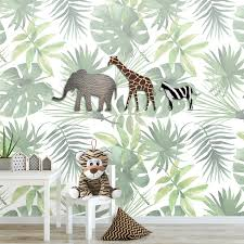 Jungle Dieren Fotobehang Kinderkamer