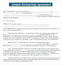 Partner Contract Sample Custom Business Mou Template Zeneico