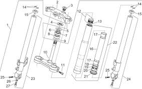 p j motorcycle engineers ia rs125 suspension parts lia rs125 front forks exploded diagram