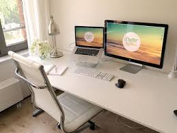 office setup ideas. Minimalistic Dual Monitor Setup Office Setup Ideas P