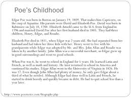 edgar allan poe biography biography edgar allan poe 2 poe s childhood