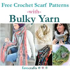 Crochet Scarf Patterns Bulky Yarn Interesting Design