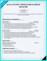 resume format for computer operator resume format for data entry zoro braggs co