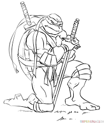 Small Picture How to draw Leonardo from Ninja Turtles Step by step Drawing