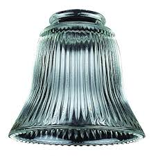2 1 4 clear ribbed glass shade 1405