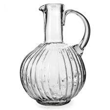 jan barboglio jarron san juana clear glass pitcher