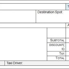 Taxi Invoice Format Template Local Receipt Word Excel Cab Bill In