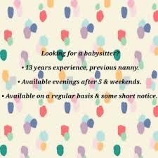Short Notice Babysitter Babysitter Find Or Advertise Services In Regina Kijiji Classifieds