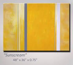 abstract art abstract painting yellow art yellow gray grey painting original modern
