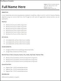 Traditional Resume Format Beauteous Traditional Resume Template Free Traditional Resume Template Free