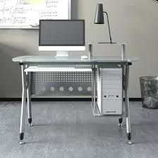 post glass home office desks. Computer In Glass Desk Home Office Post Desks Table With Metal Frame Ikea Small T