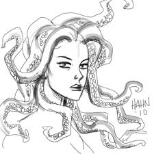 Small Picture Drawing Medusa Coloring Pages 98 On Coloring Pages Of Animals with