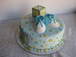 Simple Cute Boy Baby Shower Cake Ideas