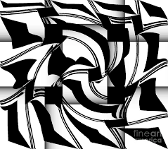 Abstract Art Black And White Patterns Geometric Art Black White Abstract No 173