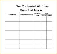 Wedding Guest List Excel Template Spreadsheet Bettylin Co