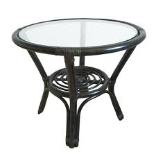 round black coffee table. Wonderful Black Round Small Coffee Table Diana 21u0027u0027 Color Black With Glass Top Handmade  EcoFriendly Materials Rattan Wicker Home Furniture  Intended
