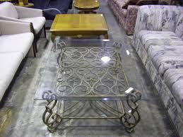 astonishing metal clear glass top coffee tables with iron ornate base also comfortable sectional sofa