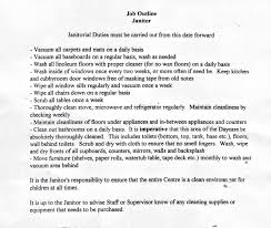 Custodian Job Duties Resume Bunch Ideas Of Resume Cv Cover Letter Image Gallery Window Dry 9
