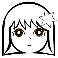 Girls Face Coloring Pages Coloringstar