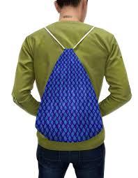 """Рюкзак-мешок с полной запечаткой <b>Орнамент</b> """"индийский огурец"""""""