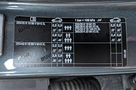 Bmw Run Flat Tyre Pressures Chart Bmw M3 Tyre Pressure Carsguide