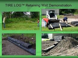 log retaining wall tire retaining wall log retaining wall construction log retaining wall