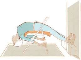Image result for Salamba Sarvangasana iyengar chair
