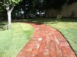 Up cycled Old red brick pavers.
