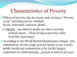 poverty 21 characteristics of povertyiuml130151 effects