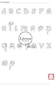 Cartamodelli Alfabeto Per Feltro E Pannolenci