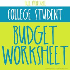 basic budget worksheet college student printable budget worksheet for college students download them or print
