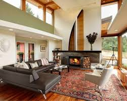 Inspiration for a rustic medium tone wood floor and brown floor living room  remodel in New