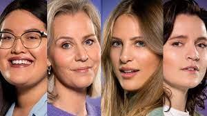 vier vrouwelijke Big Brother-kandidaten ...