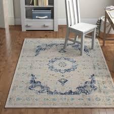 hosking blue area rug