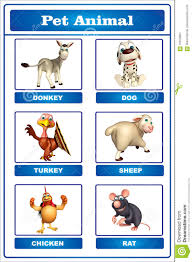 Pet Animal Picture Chart Pet Animal Chart Stock Illustration Illustration Of Comic